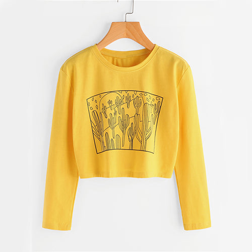 Autumn Long Sleeve Casual Kawaii Women Top - OyeHoe