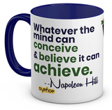 Napoleon Quoted Blue Coffee Mug