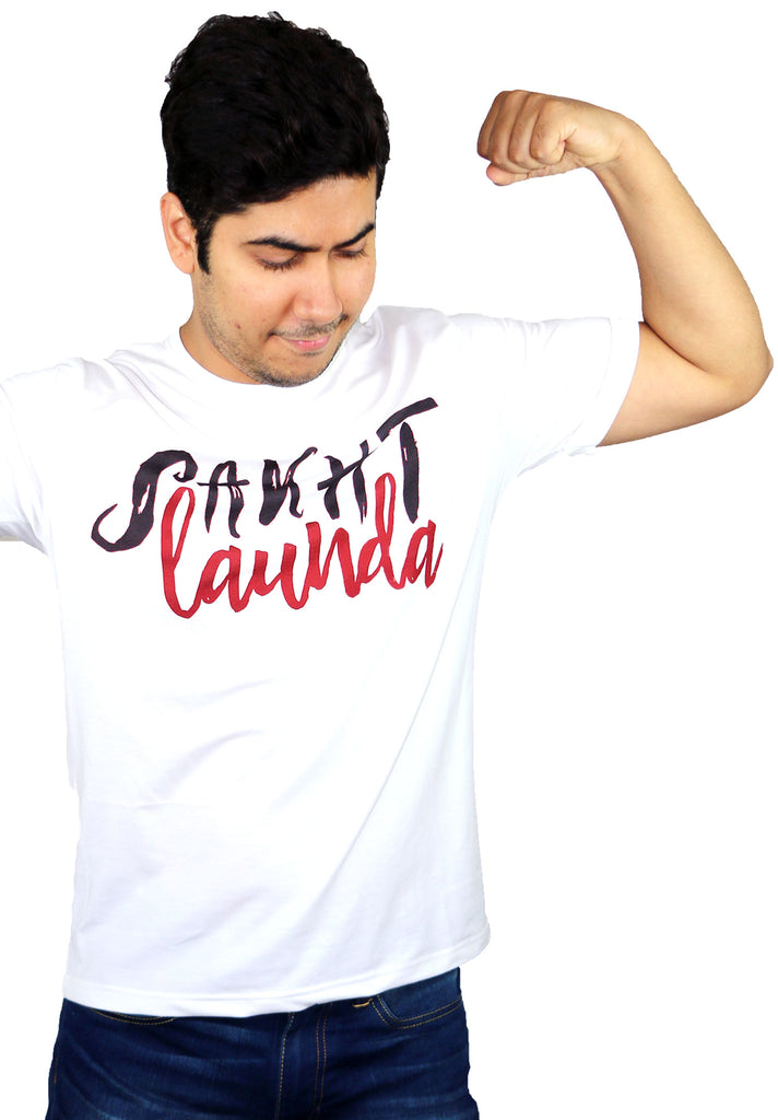 Sakht Launda Half Sleeves Men T-Shirt - OyeHoe