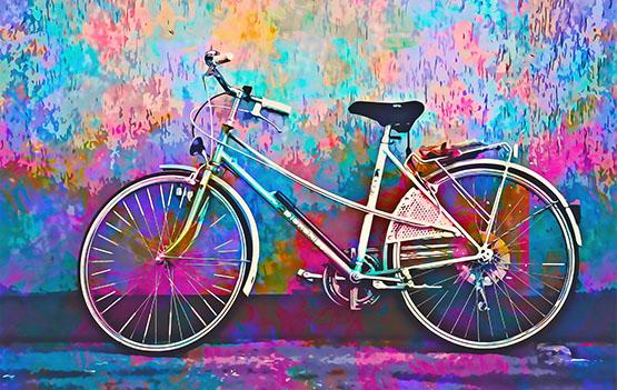 Mesmerising Color Natural Bicycle Wall Art - OyeHoe