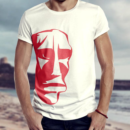 Old Stone, t-shirt The Red Mask, design ispirato alla Sardegna