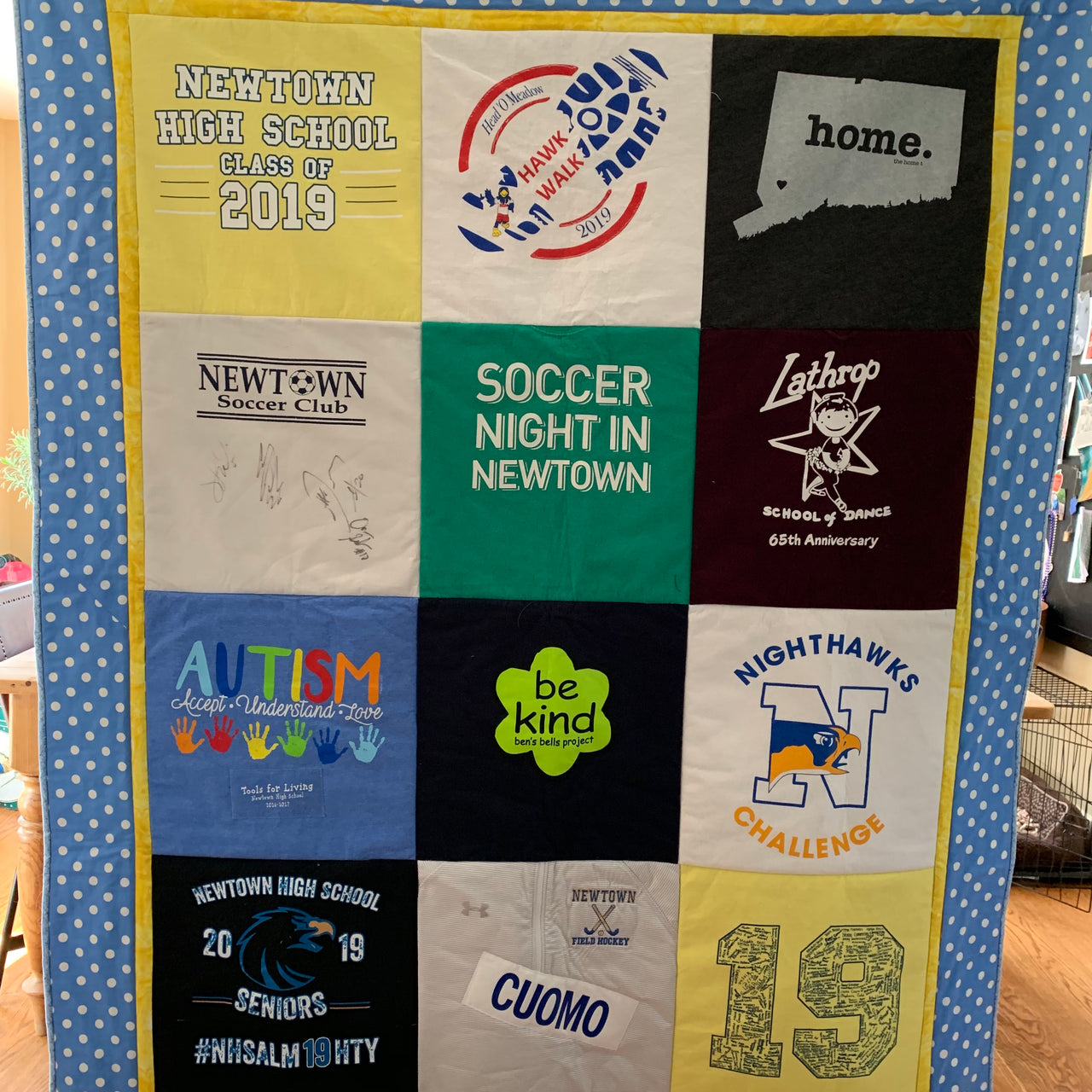 12 Patch T-shirt Memory Quilt