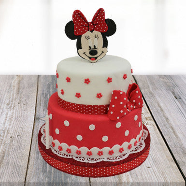 2 tier Mickey Mouse Cartoon Cake