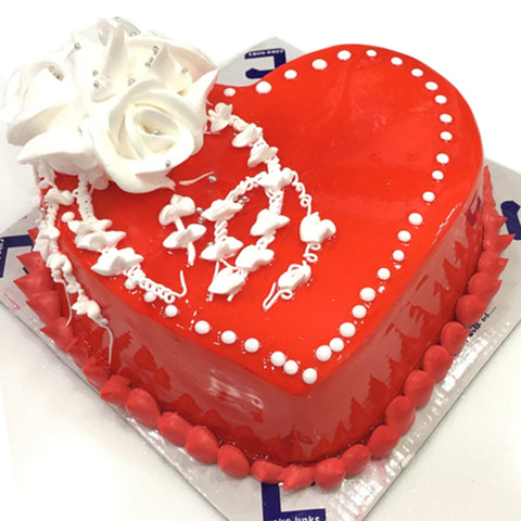 Order this Red Love Cake for your Loved One to make them feel special.