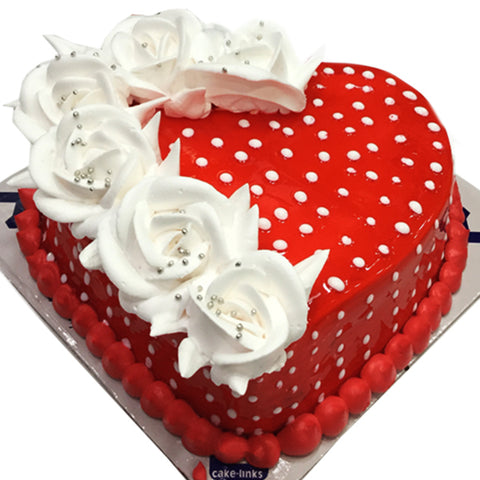 Red Heart Cake for Beloved Ones
