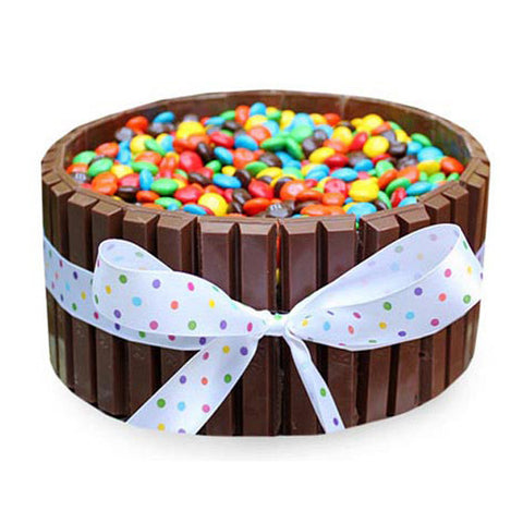Kit-Kat Gems Cake - Cake Links
