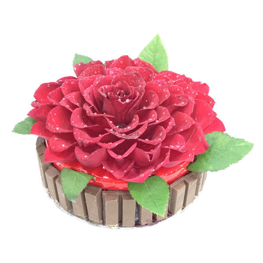 Kit-Kat Rose Cake - Cake Links