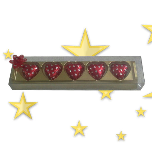 Gift 5 Heart Chocolates to your special one