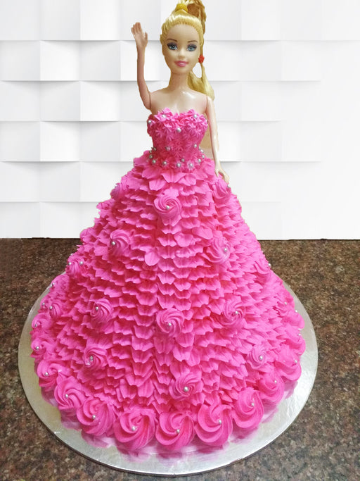 Barbie doll cake is originated from the imagination of human beings. The best occasion to gift this cake is your little princess birthday.