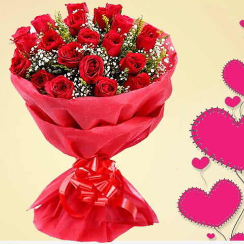 Red Brunch Roses. Fresh Flowers. Order Now