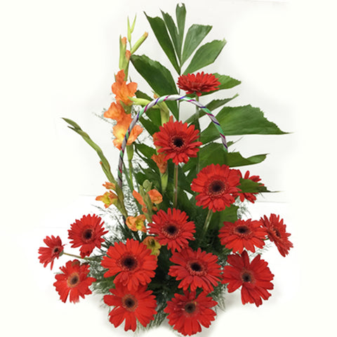 Red for all. Sunflower bouquet . Available. Order Now.