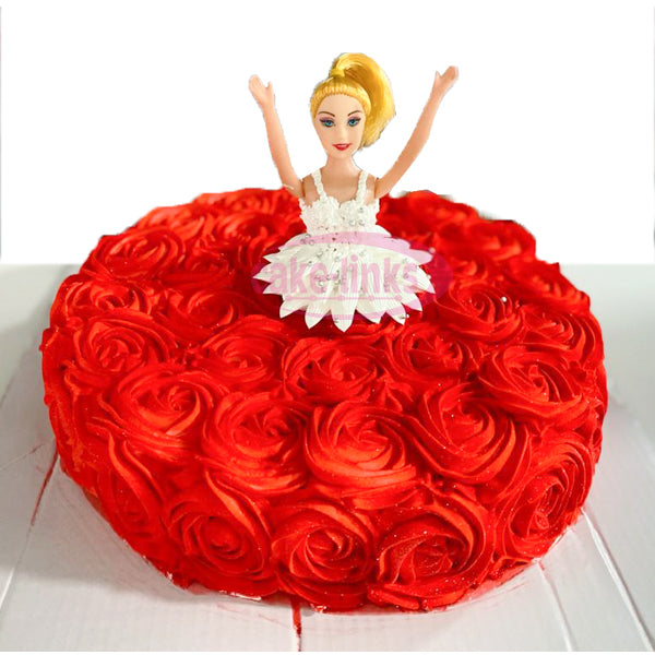 Rose Land DOLL CAKE