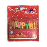 Happy birthday colorful candles