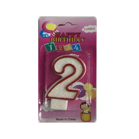 Birthday number candles