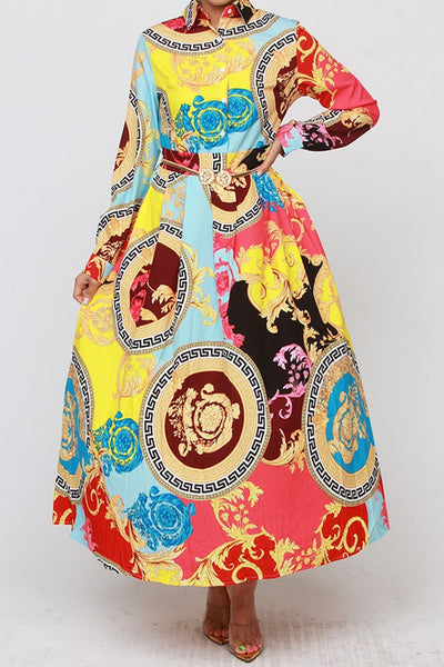 Valdin Print Dress