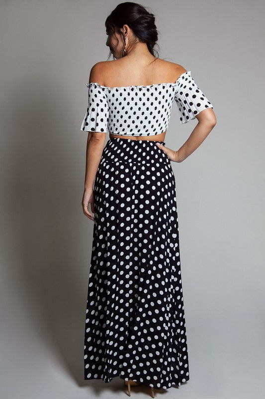 Chasity Polka Dot Skirt Set