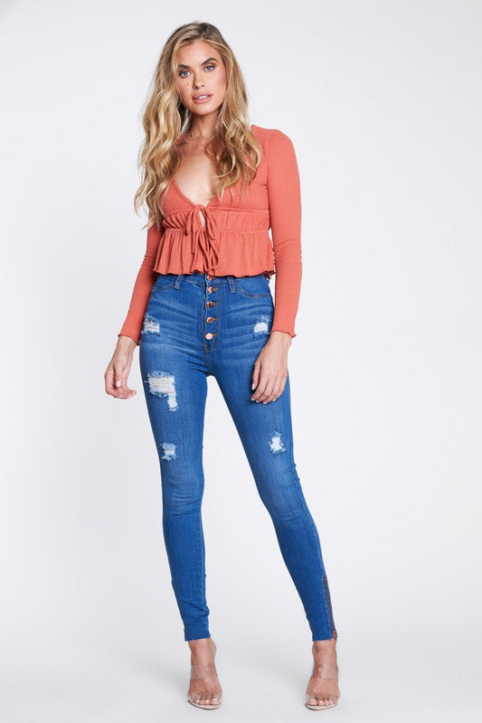 Kyra Ankle Zipper Jeans
