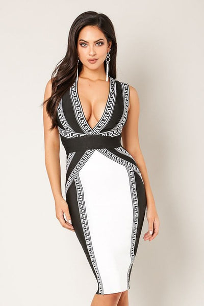 Marissa Criss Cross Bandage Dress