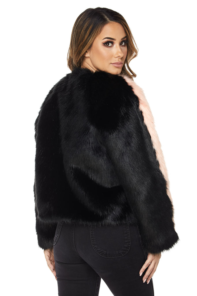 Black Out Faux Fur Jacket