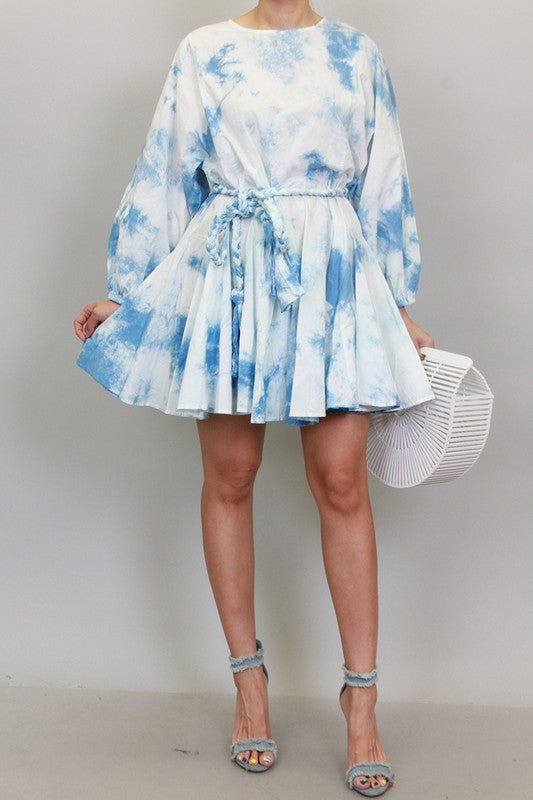 Trudy Tie Die Mini Dress