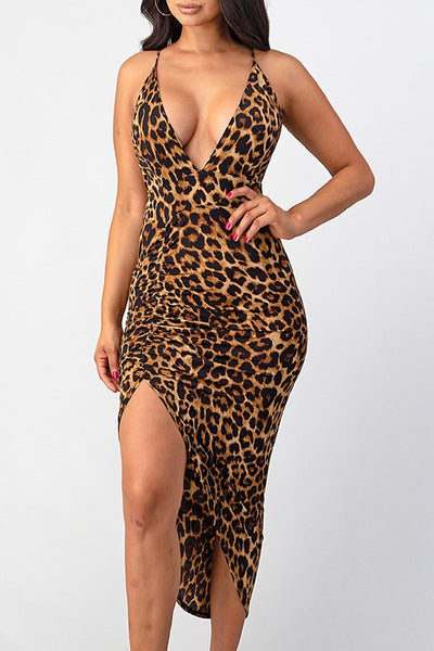 Ava Lee Animal Print Dress
