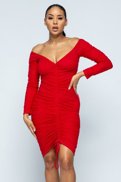 Riley Ruched Midi Dress