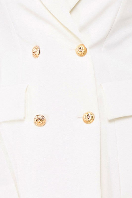 Harper Gold Pin Blazer Dress