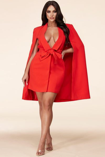 Michelle O Cape Blazer Dress