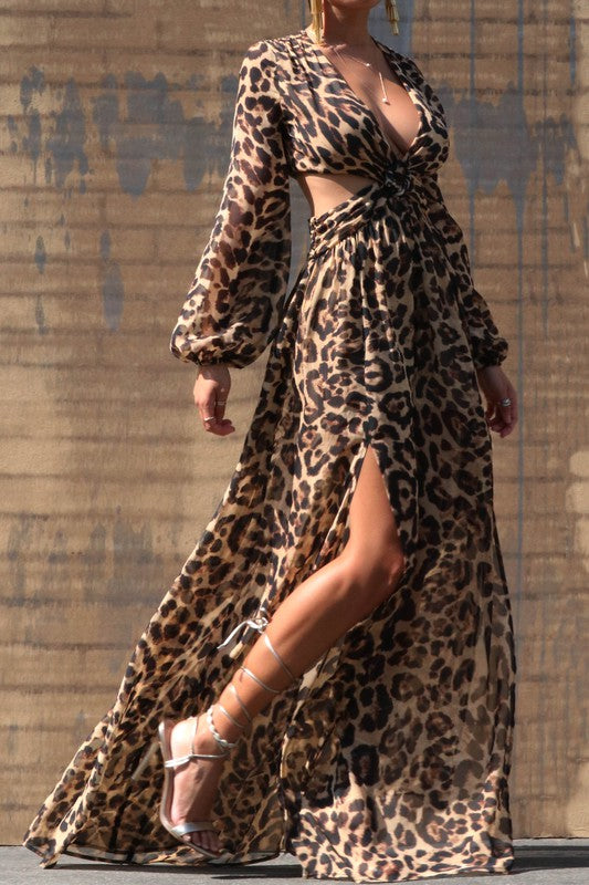 Lidea Leopard Maxi Dress
