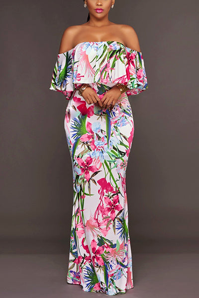 Dana Printed Long Dress