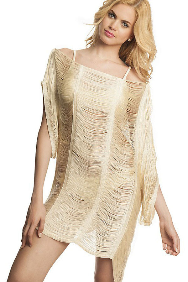 Sheer Strappy Cover Up