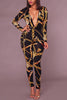 Roxanne Black Print Jumpsuit Plus