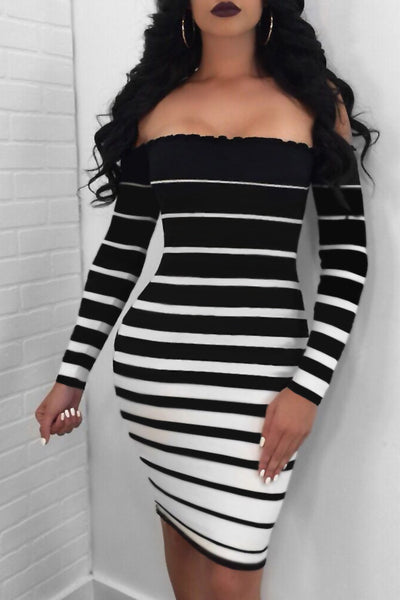 """Lisa"" Striped Mini Dress"