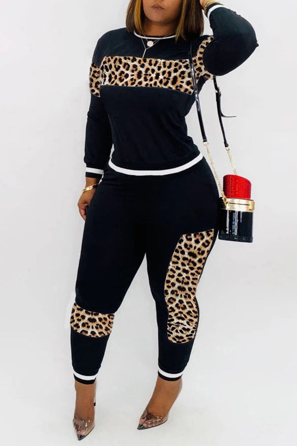 Laney Leopard 2PC Pants Set Plus
