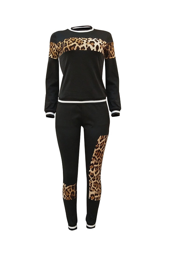 Laney Leopard 2PC Pants Set