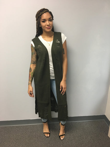 Olivia Ripped Vest