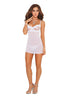 Embroidered Mesh Babydoll