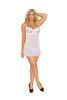 White Embroidered Mesh Babydoll