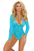 Deep V Stretch Lace Teddy