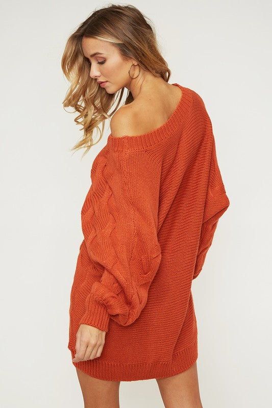 Brooke Off Shoulder Sweater