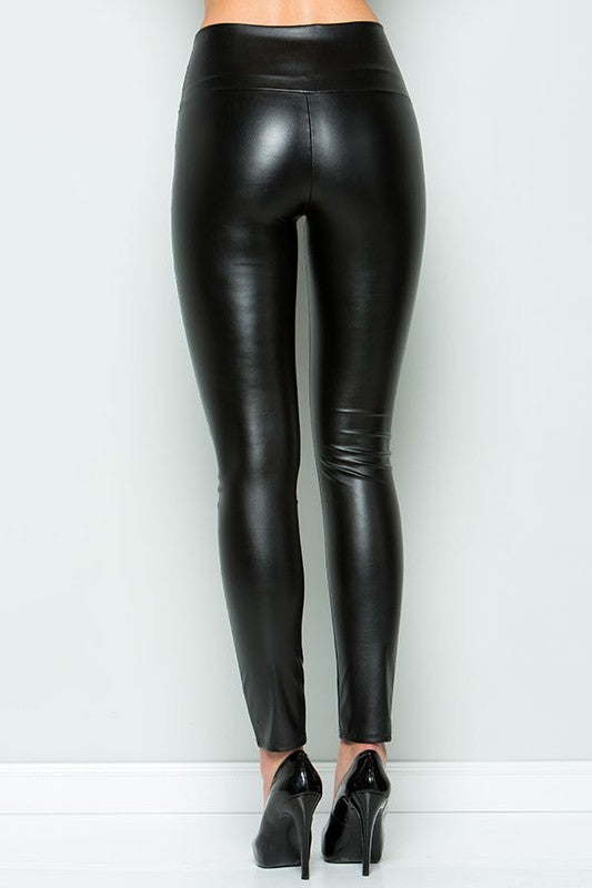 Blaze High Waist Faux Leather Legging
