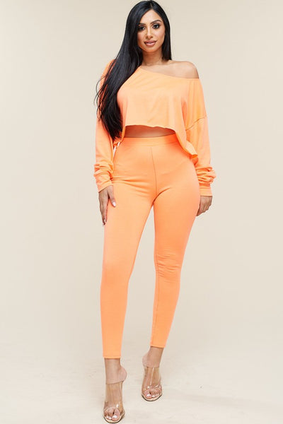 Stacie Neon Slouchy Top Pants Set