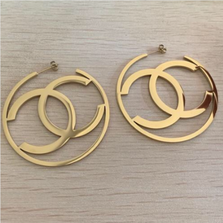 CC Hoop Earrings