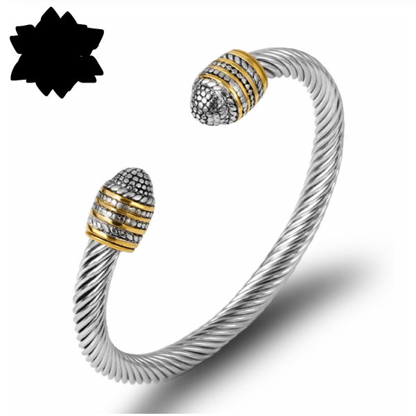 Thia Twisted Cuff Bangle