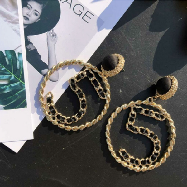 """5"" Circle Hoop Earrings"