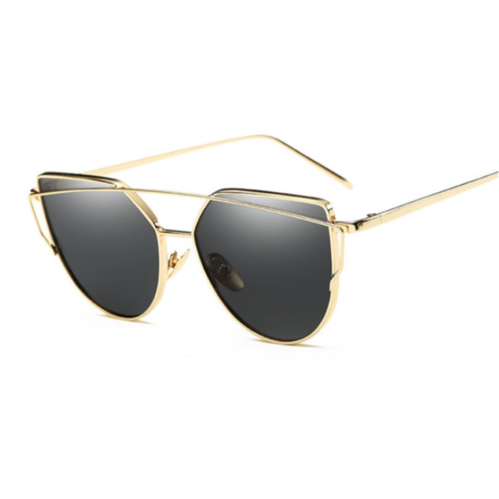 Gold Black Cat Eye Sunglasses