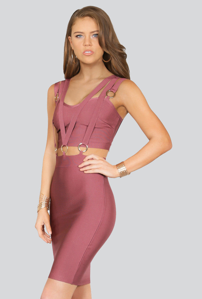 Jane Triple Banded Bandage Dress