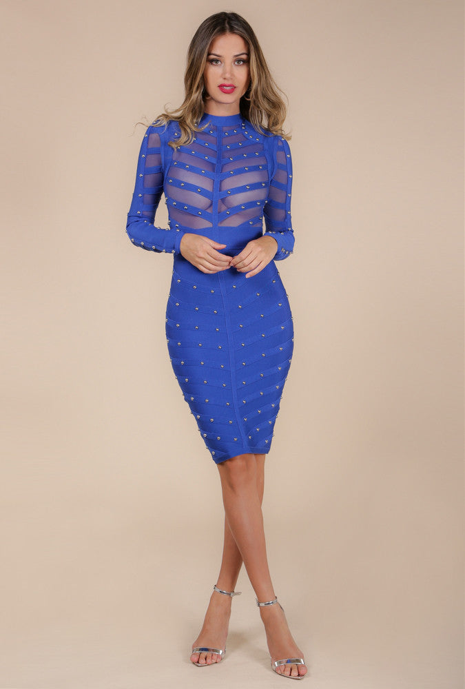 Angelina Fully Studded Bandage Dress