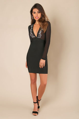 Charlette Stone Bandage Dress
