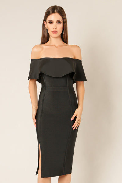 Cameron Off Shoulder Bandage Dress